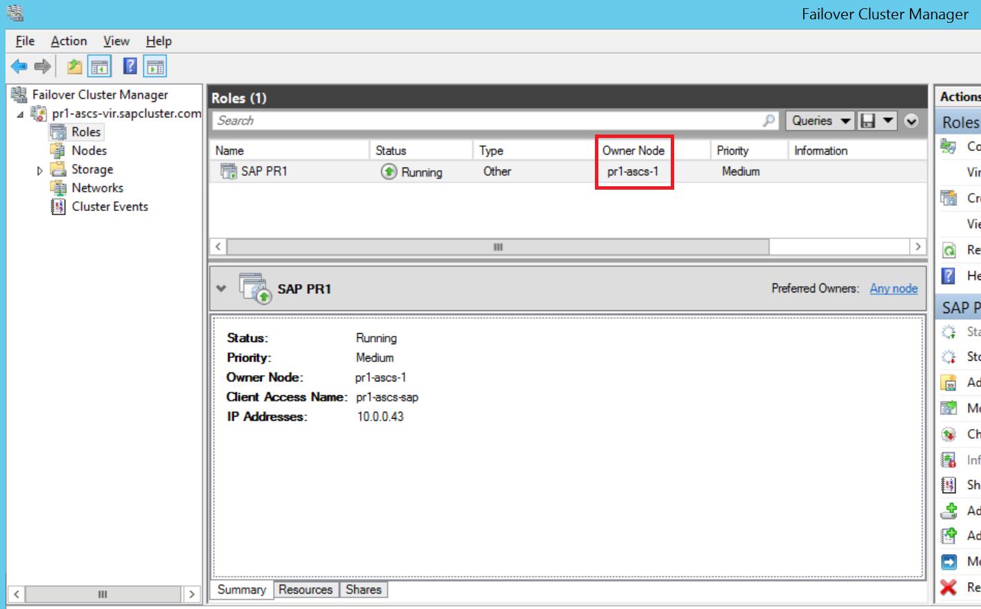 Install SAP NetWeaver HA on a Windows failover cluster and