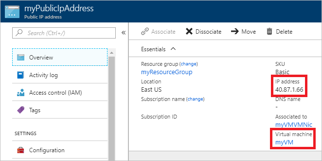 Create a VM with a static public IP address - Azure portal