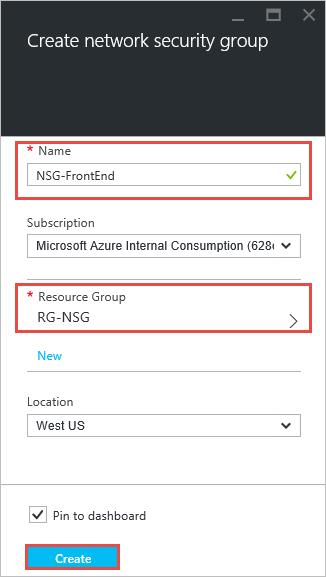Azure portal - NSGs