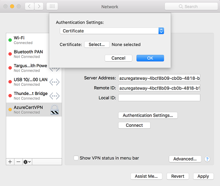 Create and install P2S VPN client configuration files for