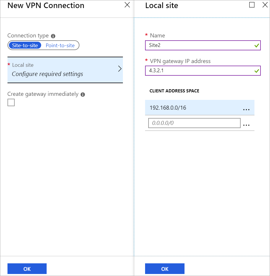 Connect your on-premises network to an Azure virtual network