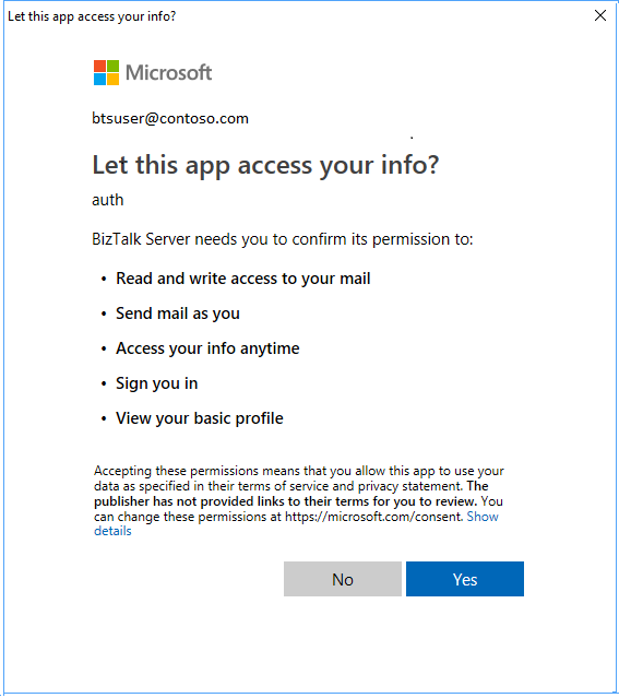 Use the Office 365 Outlook Email adapter - BizTalk Server