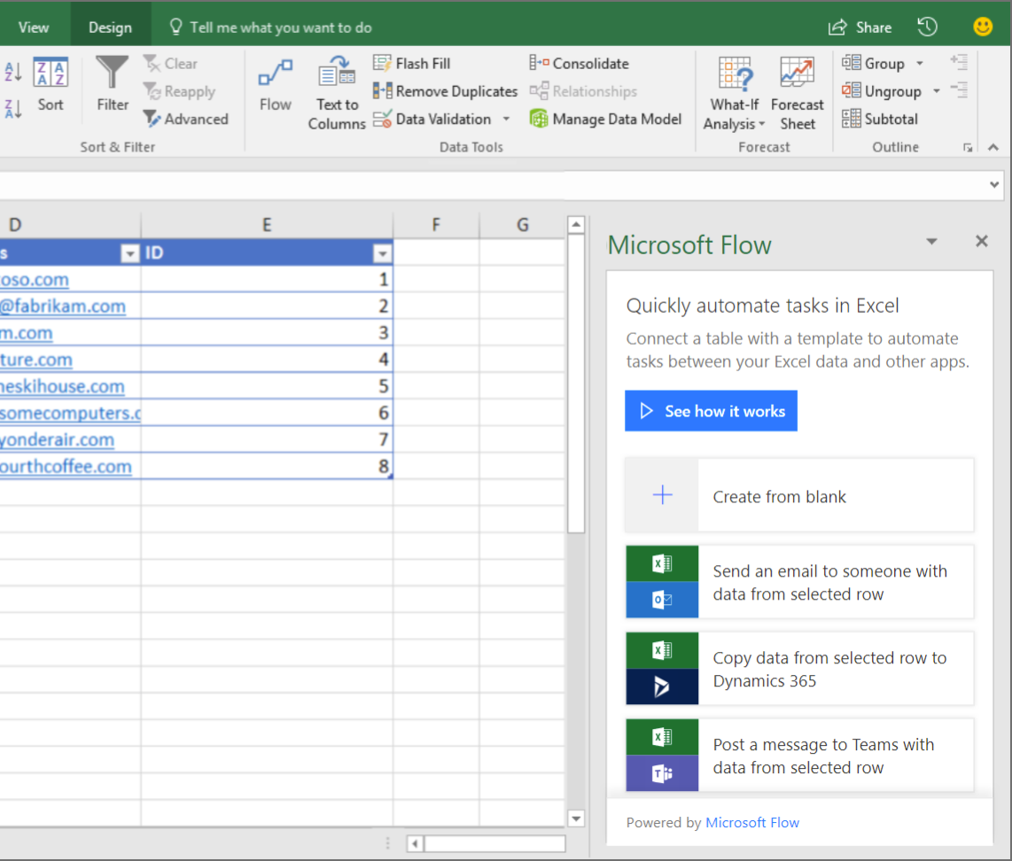 Build and run flows from Excel - Release Notes | Microsoft Docs