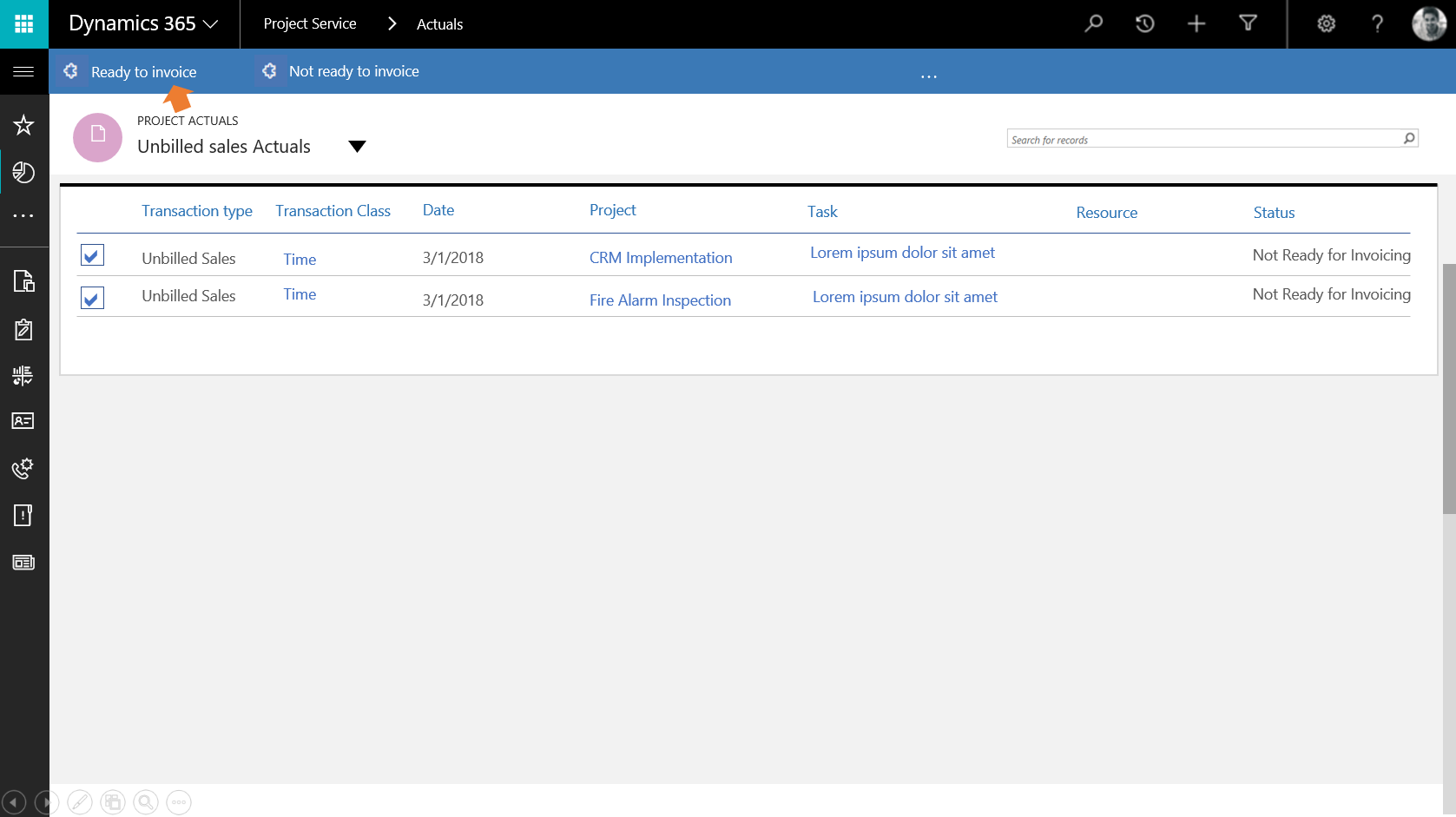 Use Transaction Filters To Review Invoicing Backlog When Creating - Create invoice software for service business