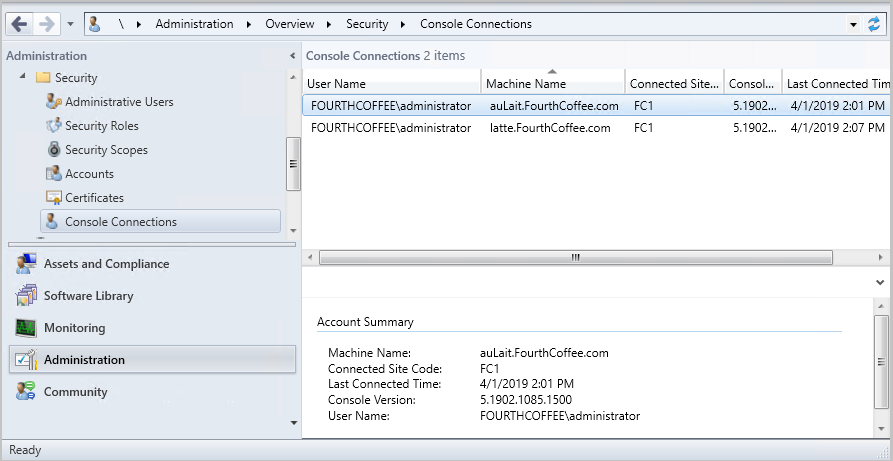 Configuration Manager console - Configuration Manager