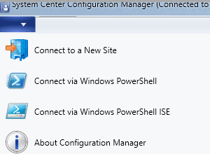 Connecting with Windows PowerShell - Configuration Manager