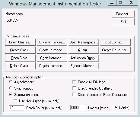 Introduction to WBEMTEST - Configuration Manager | Microsoft Docs