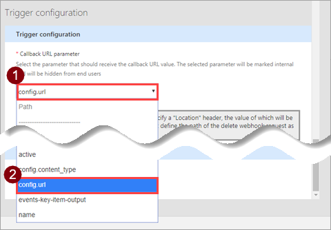 Use a webhook as a trigger for Azure Logic Apps and