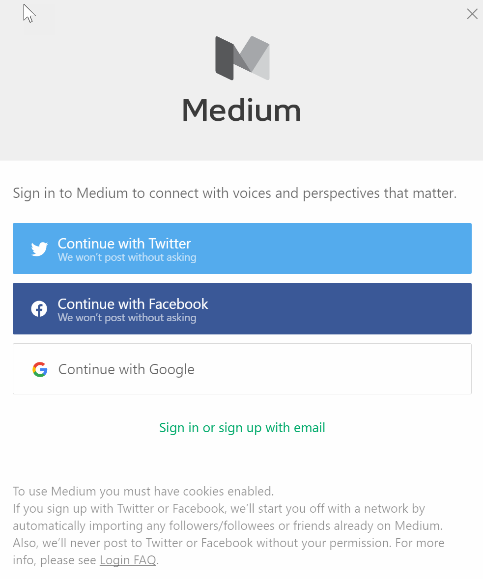 Continue with facebook sign up with email - Once Verified You Will Need To Authorize Microsoft To Access Your Medium Profile Click On Okay To Continue