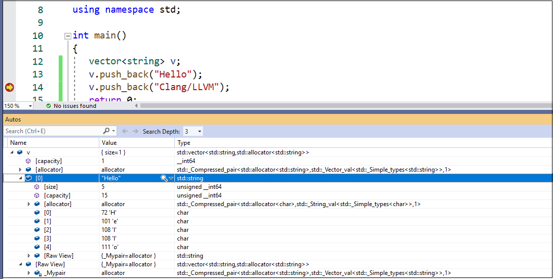 Clang/LLVM support in Visual Studio Visual Studio projects