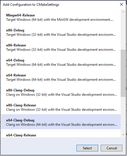 Clang/LLVM support in Visual Studio CMake projects | Microsoft Docs
