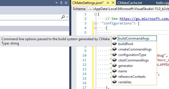 Customize CMake build settings in Visual Studio | Microsoft Docs