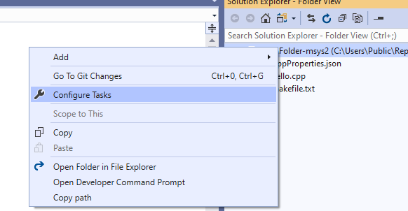Open Folder support for C++ build systems in Visual Studio
