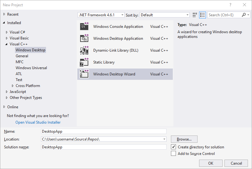 Walkthrough: Create a traditional Windows Desktop