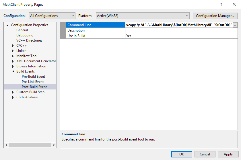visual studio compile dll into exe