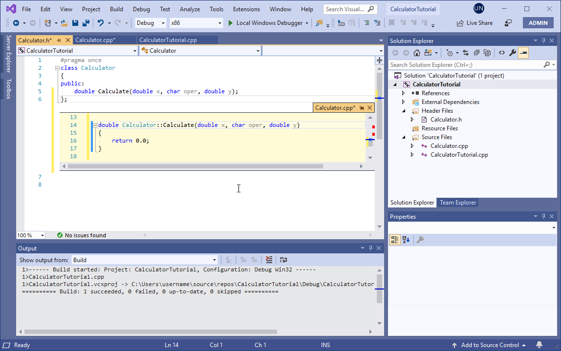 Create A Console Calculator In C Microsoft Docs