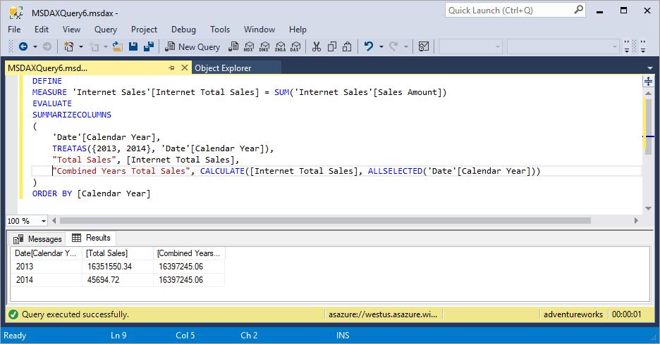 DAX Queries - DAX | Microsoft Docs