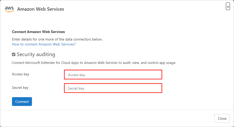 Connect Amazon Web Services with Cloud App Security