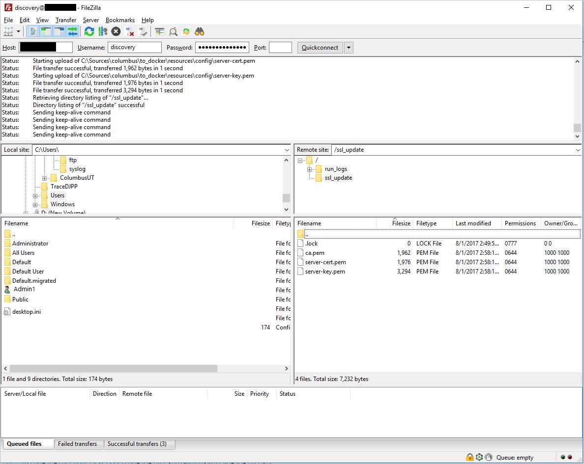 Log collector FTP configuration | Microsoft Docs