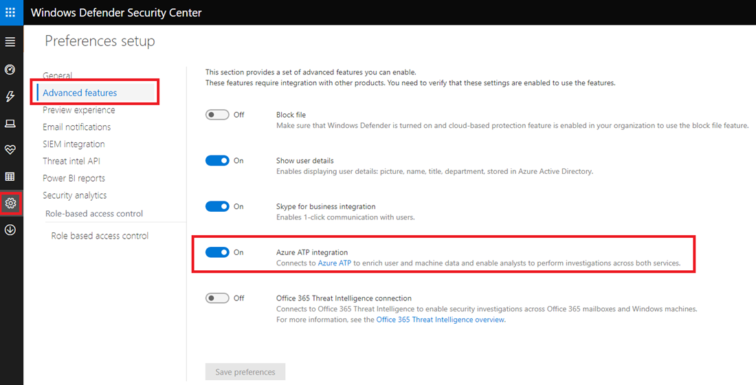 Azure Advanced Threat Protection integration with Windows Defender