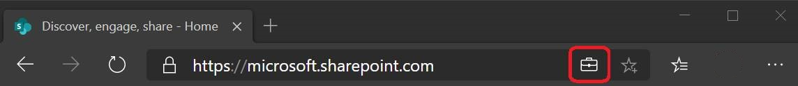 """Address bar indicator for sites marked as """"work"""""""