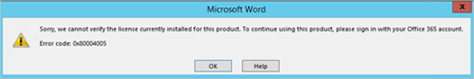 microsoft office plus 2010 cannot verify the license for this product