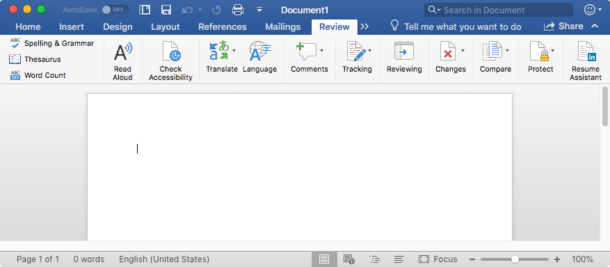 set a preference for resume assistant in word for mac