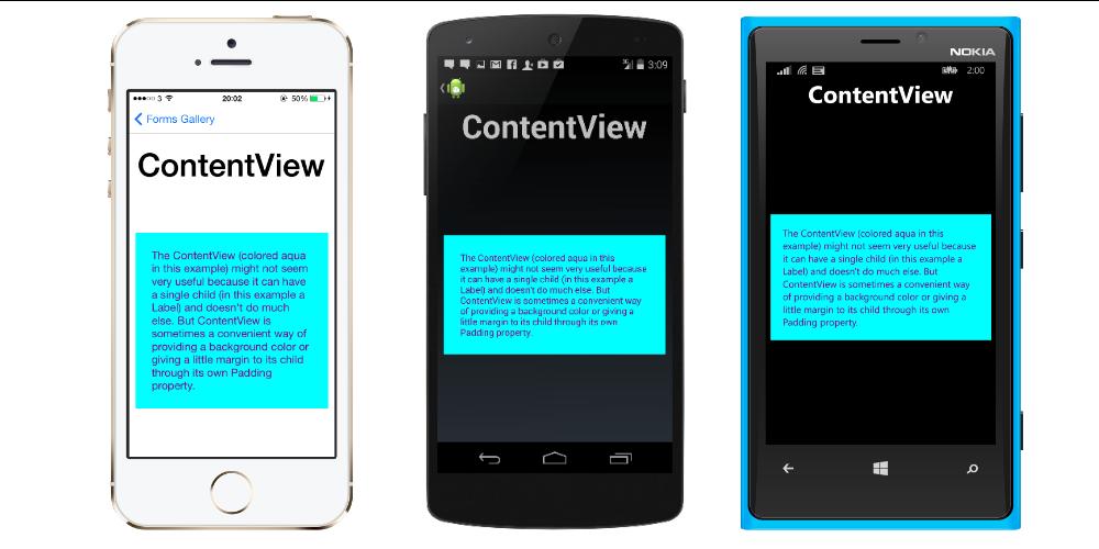 ContentView Class (Xamarin Forms) | Microsoft Docs