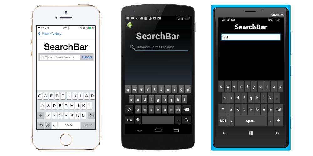 SearchBar Class (Xamarin Forms)   Microsoft Docs