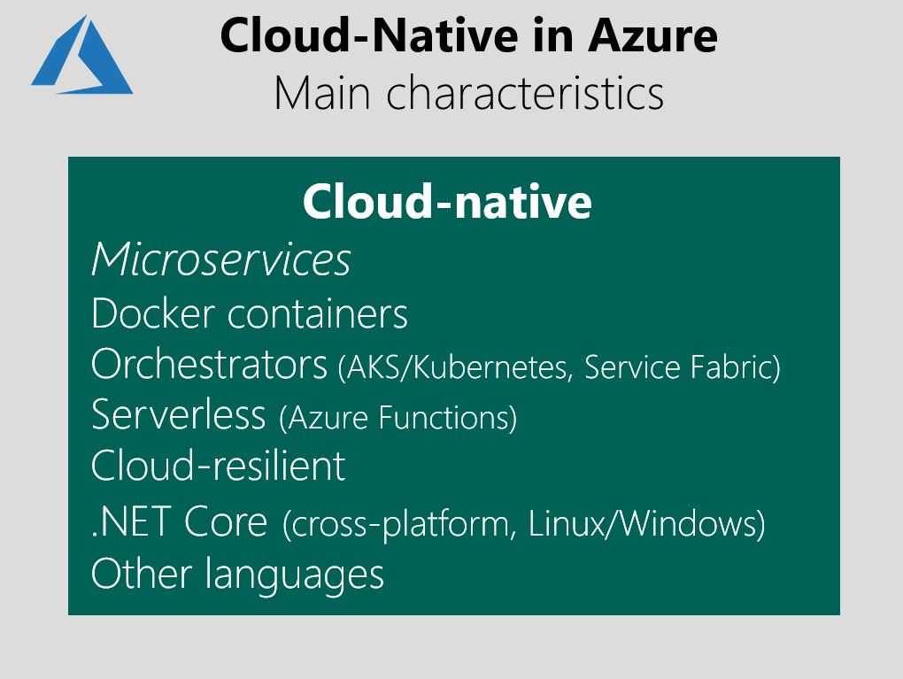 What about Cloud-Native applications? | Microsoft Docs