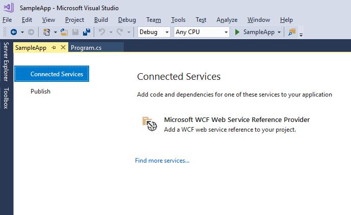 Add WCF Web Service Reference -  NET Core | Microsoft Docs