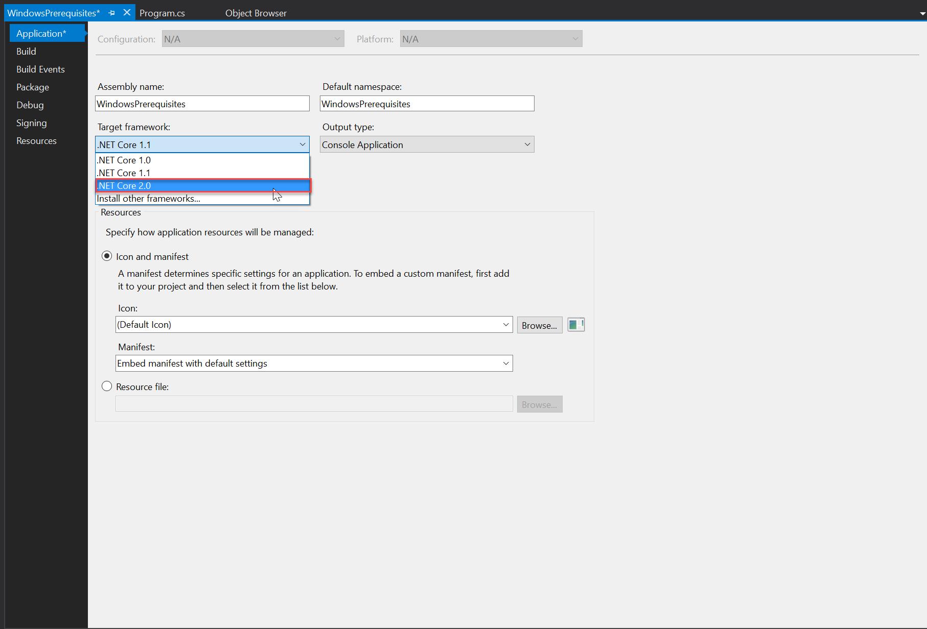 Prerequisites for .NET Core on Windows | Microsoft Docs