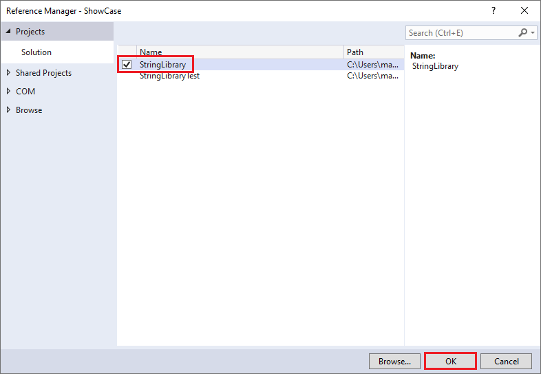 Consume a  NET Standard library in Visual Studio 2017 -  NET