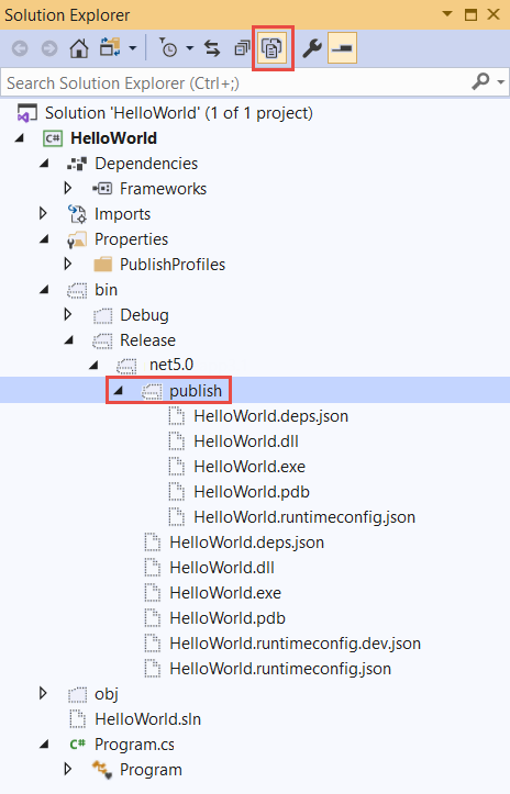 Publish your  NET Core Hello World application with Visual