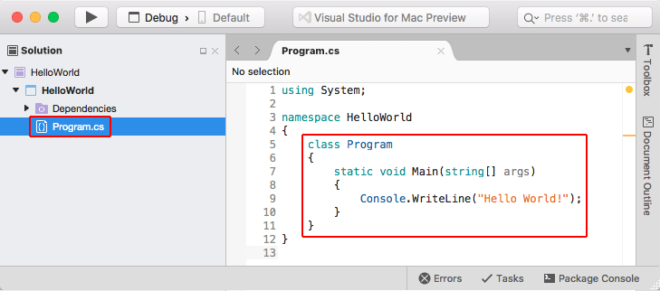 Get started with  NET Core on macOS using Visual Studio for