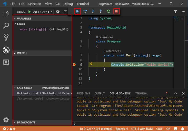 Get started with C# an...
