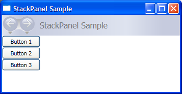 A Typical StackPanel Element