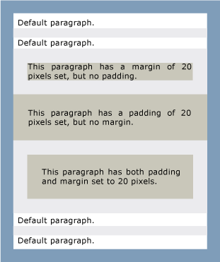 screenshot paragraphs with padding and margins