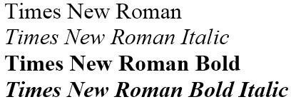 Best times new roman font family free image collection.