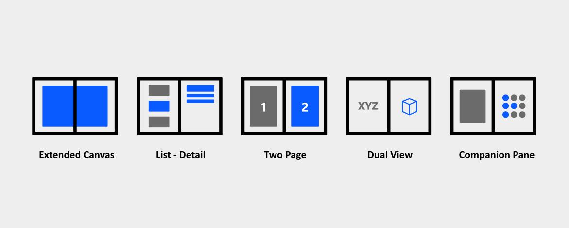 Dual-screen app patterns