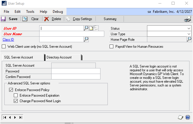 System Setup Guide Dynamics Gp Microsoft Docs