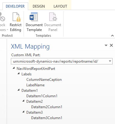 how to add fields to a word report layout dynamics nav app