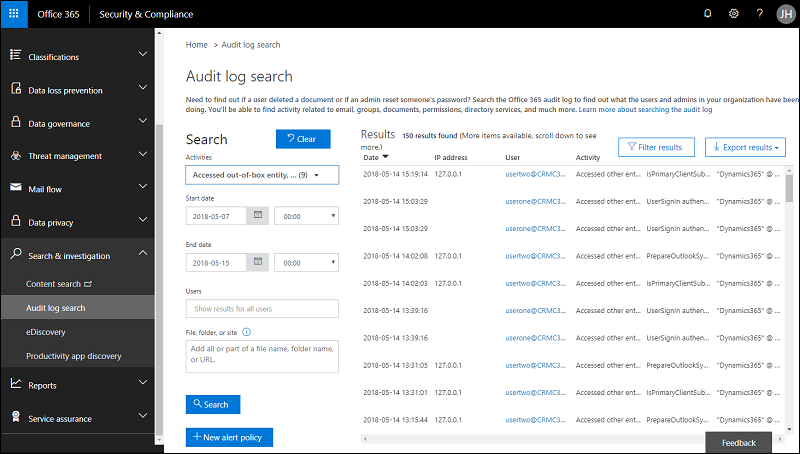 Enable and use Activity Logging (Dynamics 365 for Customer