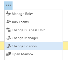 Change position in hierarchy security in Dynamics 365