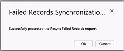 Notification of a successful resynchronization