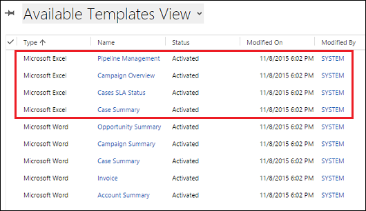 Analyze your data with excel templates for dynamics 365 customer try out the excel templates included with dynamics 365 maxwellsz