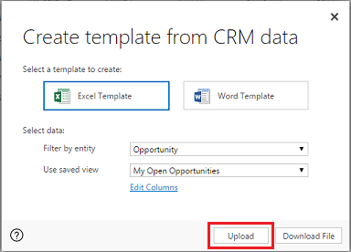 analyze your data with excel templates for dynamics 365 for customer