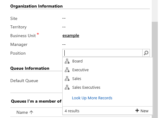 Add user to position in Hierarchy Security in Dynamics 365