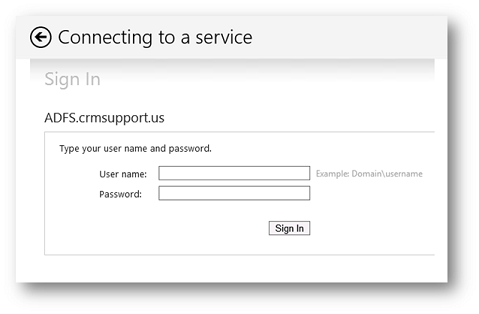ADFS Sign-in prompt