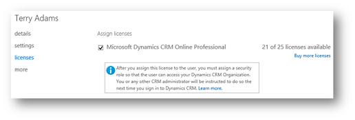 Terry Adam's Dynamics 365 License